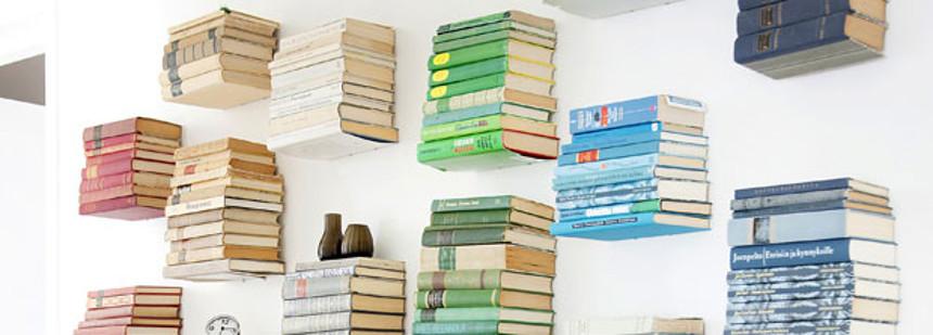 Niewidzialne Półki Na Książki Oryginalne Wiszące Półki Na